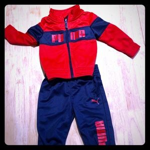 Infants Size 6-9 month Puma Track Suit